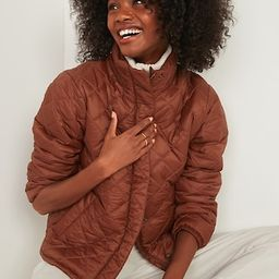 Lightweight Diamond-Quilted Nylon Puffer Jacket for Women | Old Navy (US)