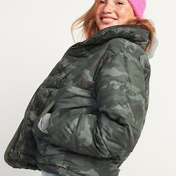 Camo Quilted Utility Puffer Jacket for Women | Old Navy (US)
