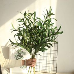 Martine Mall 3pcs Artificial Ficus Branches Leaf Spray, 44'' Faux Eucalyptus Branches Banyan Ficu...   Amazon (US)