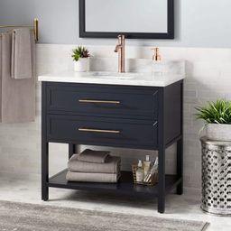 "Robertson 36"" Single Vanity Set with Wood Cabinet, Marble Vanity Top, and Rectangular Undermount ...   Build.com, Inc."