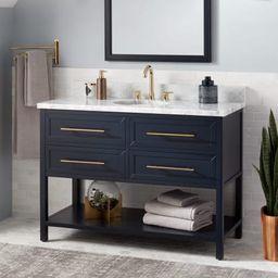 "Robertson 48"" Mahogany Wood Single Vanity Cabinet - Choose Your Vanity Top and Sink Configuration   Build.com, Inc."
