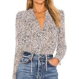 Free People X REVOLVE Lela Blouse in Ivory Combo from Revolve.com | Revolve Clothing (Global)