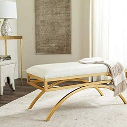Safavieh Home Collection Clear and Gold Moon Arc Bench   Amazon (US)
