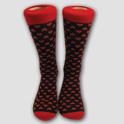 Men's Printed Hearts Casual Socks - 6-12 | Target
