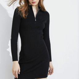 Essential Black Zip-Up Dress | J.ING