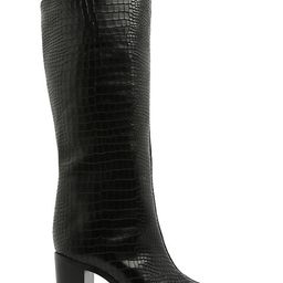 Analeah Lizard-Embossed Leather Boots | Saks Fifth Avenue