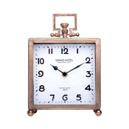 NIKKY HOME Metal Desk Clock, Silent Non-Ticking Classic Analog Table Clock for Living Room Decor ... | Amazon (US)