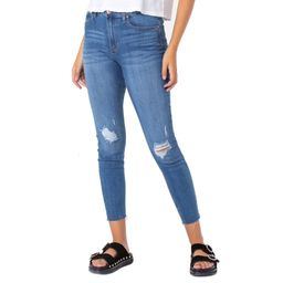 """Celebrity Pink High Rise Ankle Skinny 28"""" with Raw Washed Hem 