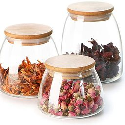 Mii-Home 3-Piece Glass Jars Canisters Set Food Storage Containers with Airtight Seal Bamboo Lid f... | Amazon (US)