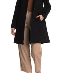 Notch Collar Single Breasted Wool Coat | Nordstrom Rack