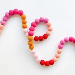 Golden Ombre Valentine's Felt Ball Garland, Bunting, Banner | Etsy (US)