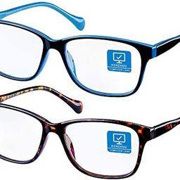 Blue Light Blocking Computer Glasses 2 Pack Decrease Eye Eyestrain Unisex(Women/Men) Glasses with...   Amazon (US)