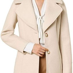 Women's Notched Shawl Collared Buttons Overcoat Single Breasted Long Winter Coat with Pockets | Amazon (US)
