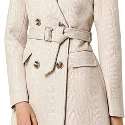 Women's Double Breasted Shawl Collar Chevron Belted Long Winter Coat | Amazon (US)
