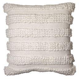 Better Homes & Gardens, Tufted Loop Stripe Decorative Throw Pillow, 20''x20'', White | Walmart (US)