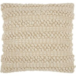 "Nourison Life Styles Solid Beige Decorative Throw Pillow , 20"" x 20"" | Walmart (US)"