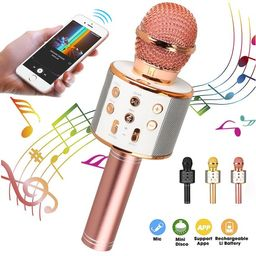 Wireless Bluetooth Karaoke Microphone for Kids, EEEkit Kids Karaoke Machine Portable Handheld Mic...   Walmart (US)