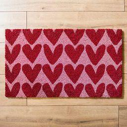 New!Red Hearts Valentine's Doormat | Kirkland's Home
