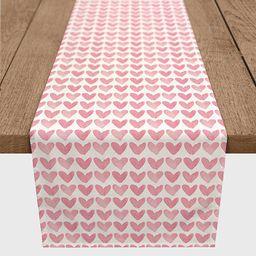Pink Hearts Cotton Twill Valentine's Runner | Kirkland's Home