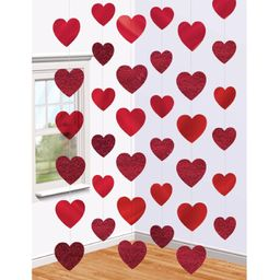 6 x 7ft Red Heart String Valentines Day Decorations Engagement Wedding Party NEW | Walmart (US)