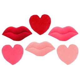 Sien Red and Pink Emoji Lips and Hearts Throw Pillows | Walmart (US)