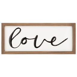 "Decorative Wood ""Love"" Sentiment Tabletop Sign, 5""x8"" | Walmart (US)"