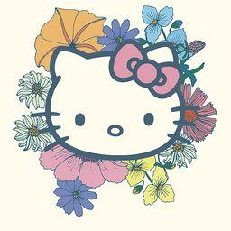 Hello Kitty x Erin Condren Flower Power Notebook   Erin Condren