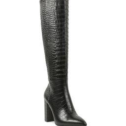 Baylee Croc Embossed Knee High Boot | Nordstrom