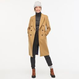 Double-breasted topcoat in Italian wool-cashmere | J.Crew US