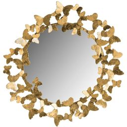 Safavieh Ruthie Butterfly 27 in. x 27 in. Round Framed Mirror   The Home Depot