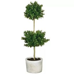 """Sullivans Artificial Double Boxwood Topiary 21""""H Green   Target"""