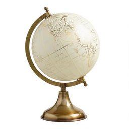 White Globe on Gold Stand | World Market