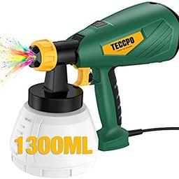 Electric Paint Sprayer 500 Watts Up to 100 DIN-s, TECCPO Spray Gun with 800ml/min HVLP, 1300ml De...   Amazon (US)
