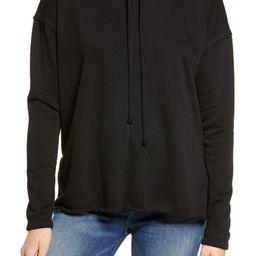 Treasure & Bond Cowl Tie Neck Cotton Blend Sweatshirt | Nordstrom | Nordstrom
