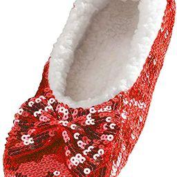 Snoozies Ballerina Bling Metallic Shine Women Slippers   Sequin House Slippers for Women   Slippe...   Amazon (US)