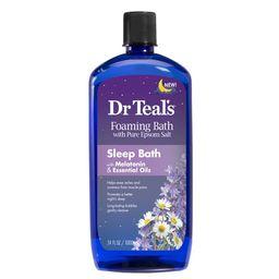 Dr Teal's Foaming Bath with Pure Epsom Salt, Sleep Bath with Melatonin & Essential Oils, 34 oz | Walmart (US)