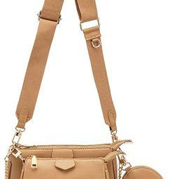 Small Crossbody Bags for Women Multipurpose Golden Zippy Handbags with Coin Purse including 3 Siz...   Amazon (US)