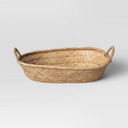 """15"""" x 5"""" Decorative Seagrass Woven Tray Natural - Threshold™   Target"""
