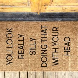 You Look Really Silly Sideways Personalized Doormat, Kids Decor Mat Housewarming Gift, Funny Home...   Etsy (US)