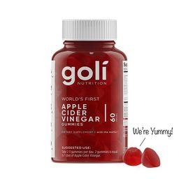 Goli Nutrition Apple Cider Vinegar Gummies, 60 ct   Walmart (US)