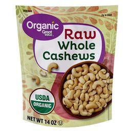 Great Value Organic Raw Whole Cashews, 14 oz   Walmart (US)