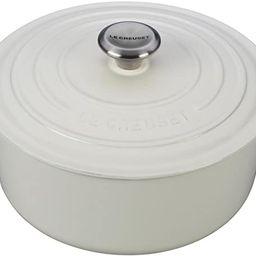 Le Creuset Enameled Cast Iron Signature Round Dutch Oven, 5.5 qt., White | Amazon (US)