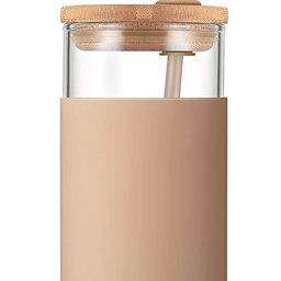 Tronco 20oz Glass Tumbler Glass Water Bottle Straw Silicone Protective Sleeve Bamboo Lid - BPA Fr... | Amazon (US)