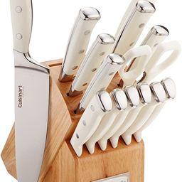 Cuisinart C77WTR-15P Classic Forged Triple Rivet, 15 Piece Set, White | Amazon (US)