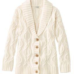 Women's Cozy Fisherman Sweater, Cardigan   L.L. Bean