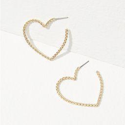 Heart Rope Hoop Earrings | LOFT | LOFT