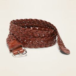 """Braided Faux-Leather Belt for Women (1"""") 