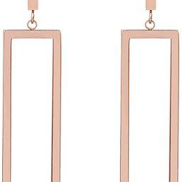FAMARINE Gold Geometric Drop Earrings, Rectangle Dangle Earrings for Women Girls Costume Jewelry   Amazon (US)