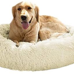 MFOX Calming Dog Bed (L/XL/XXL/XXXL) for Medium and Large Dogs Comfortable Pet Bed Faux Fur Donut... | Amazon (US)