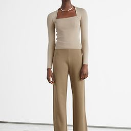 Relaxed Knit Trousers | & Other Stories